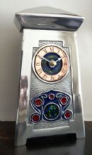 Archibald Knox No' 5 Enamelled Pewter Clock